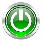 power icon, green button, on off sign