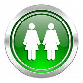 couple icon, green button, people sign, team symbol