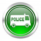police icon, green button