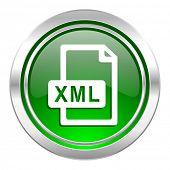 xml file icon, green button
