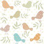 Silhouette of birds pattern