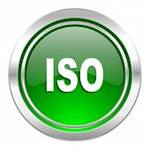 iso icon, green button