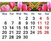 Calendar For April Of 2015 Year With Dicentra