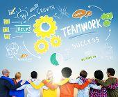 Teamwork Team Together Collaboration Diversity People Friendship Concept