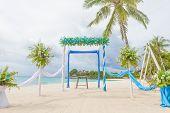 image of wedding arch  - beautiful wedding arch - JPG