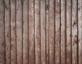 Texture Of Wooden Fence Painted With Brown