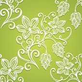 picture of hop-plant  - Seamless Floral Pattern  - JPG