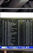 Digital display departure times