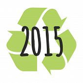 Recycle Sign Year 2015 Design