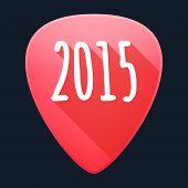 Guitar Pick Year 2015 Design