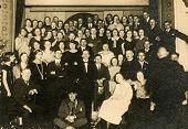 GERMANY CIRCA THIRTIES:: Vintage photo of big group of people
