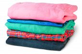 Stack Of Five Types Of Clothes Rotated