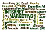 Internet Marketing word cloud on white background