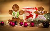 Christmas mug with decorations