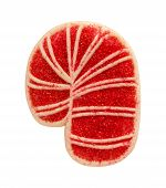 Candy Cane Cookie With Sprinkles