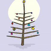 Christmas Tree In Moonlight