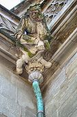 Stonemason Gargoyle Over Drain