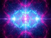 image of heavenly  - Galactic glowing heaven computer generated abstract background - JPG