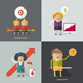 Flat design vector illustration concepts for business, web, mobile marketing, partnership, education & art