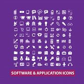 software, mobile, application, app icons, signs set, vector
