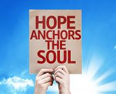 Hope Anchors the Soul card with sky background