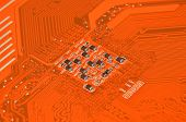 Circuit board background, DOF