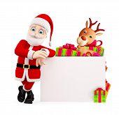 Santa Presenting With Board
