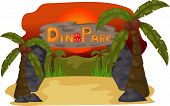 foto of prehistoric animal  - Dino Park Evening jurassic dino funny animal - JPG