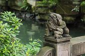 Temple of marquis stone bridge head