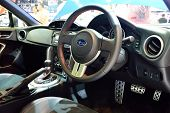 Nonthaburi - December 1: Interior Design Of Subaru Brz 2.0 Car Display At Thailand International Mot