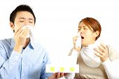Couple suffers from allergic rhinitis