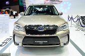 Nonthaburi - December 1: Subaru Frorester 2.0 Xt Car Display At Thailand International Motor Expo On