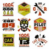 Car Races And Service Badges