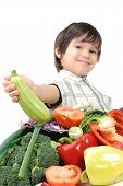 Kid With Vegetables