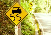 image of slippery-roads  - Caution of slippery roads  - JPG