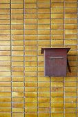 Yellow tiles Wall pattern with postbix