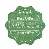 Best Offer Save -50%