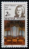 HUNGARY - CIRCA 1985: A stamp printed in Hungary shows Johann Sebastian Bach