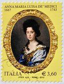ITALY - CIRCA 2013: A stamp printed in Italy shows Anna Maria Luisa de Medici circa 2013