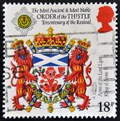 UNITED KINGDOM - CIRCA 1987: A stamp printed in Great Britain dedicated to Scottish Heraldry