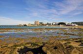 Landscape of the beach of La Caleta on the province of Cadiz on Spain