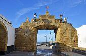 Access of the beach of La Caleta on the province of Cadiz on Spain