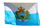 Flag Of San Marino Isolated On A White Background
