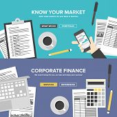 picture of stock market data  - Corporate business cervices financial analytics and market research office organization process company accounting and planning documents - JPG