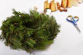 Unfinished Christmas Wreath