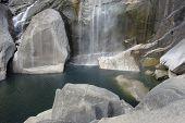 Yosemite National Park Waterfall And Lake