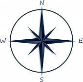 pic of compasses  - Compass rose on white background  - JPG