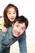 Japanese father and his daughter
