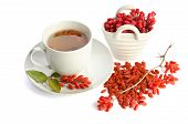 Goji Fresh Antioxidant Tea  Isolated On White Background