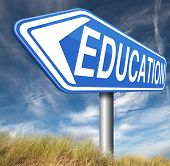 education learn and study to gather knowledge and wisdom  building knowledge go to school college or university